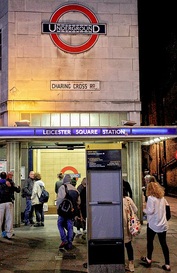 Leicester Square's thin roundel